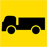 Temporary Traffic Signs -  SYMBOLIC TRUCK