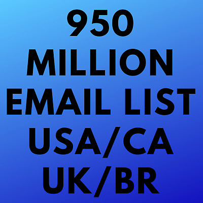 Database 950 MIllion Email Marketing List (HUGE) US CA UK Cheap Up To 60% OFF 🔥