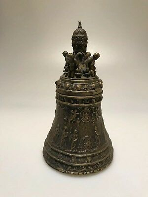 Old bronze or brass handbell or table bell