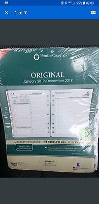 Brand New Franklin Covey 2019 Original Planner Refill. Monarch Ring-Bound. 2...
