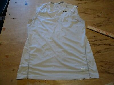 Nike Pro SLEEVELESS Dri-Fit Fitted Athletic Workout TEE MENS SIZE MEDIUM