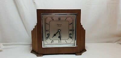 Vintage Art Deco Benson's of London 8 Day Westminster Chiming Mantle Clock