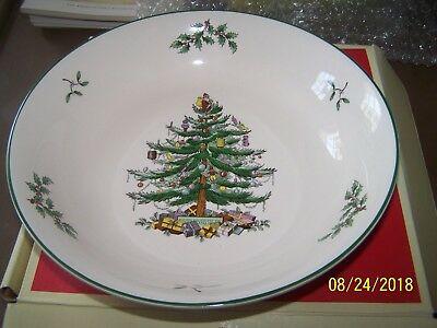 """Christmas Tree Pattern 9"""" Serving Bowl Spode Brand New In Box"""