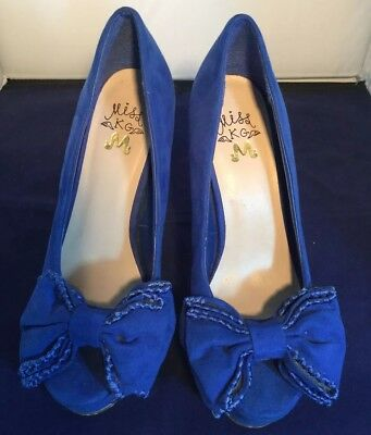 dca4f673c223 AUDREY BROOKE BELLA Womens Heels   Pumps Cobalt 6 US   4 UK YL ...