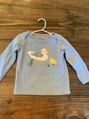 Mini Baby Boden Long Sleeve Spring T Shirt Size 18 to 24 Month Toddler Girls