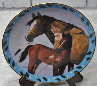 Danbury Mint Plate Collection Father and Son Spirited Visions by Diana Beach