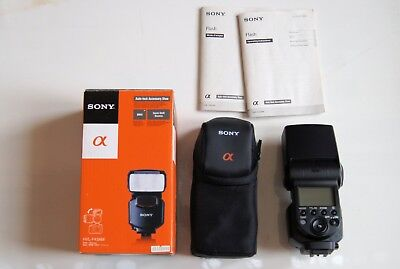 Sony HVL-F43AM Shoe Mount Flash with Case-Mint Condition