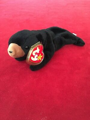 "ec015d0f016 TY BEANIE BABIES ""Blackie"" The Black Bear 1993 Retired (Mint)"