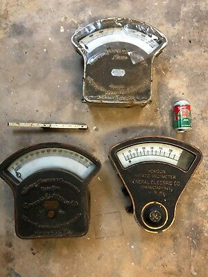 Three HUGE Antique Electrical meters from Trolley power station