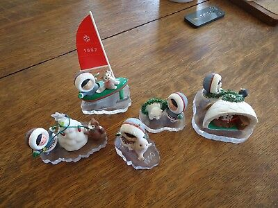 1990,1994,1997,1993,2001 Frosty Friends Hallmark Ornaments $ 7.50 Ship No Boxes