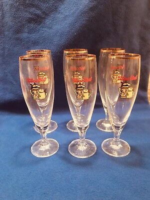 6-UTICA CLUB SCHULTZ AND DOOLEY 0.3L BEER GLASSES - MADE IN GERMANY, New