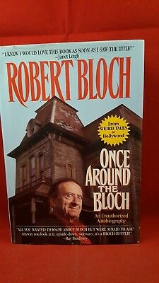 Robert Bloch - Once Around The Bloch, A Tor Book, 1993, 1st Edition, Signed