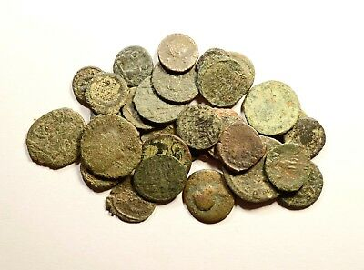Lot Of 30 Imperial Roman Bronze Coins For Identifying - 08