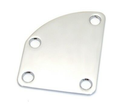 Chrome Offset/Contoured Heel Neck Plate Kit for Fender® Deluxe Guitars NP-DLX-C