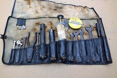 Jaguar series 1 E Type 100% complete & original toolkit/tool roll ultra rare