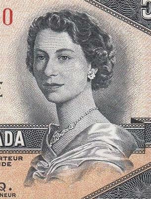 1954 Bank Of Canada Qeii $50 **devils Face** (( Ef ))