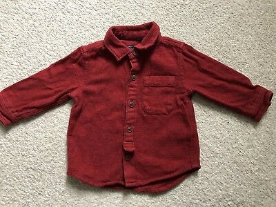 NEXT boys Red Shirt Age 6-9months