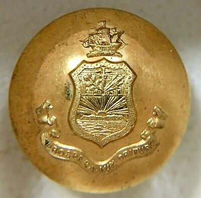 Puerto Rico Coat of Arms Button - 2-pc. -24mm Size - (1902-1905)  Tiffany & Co.