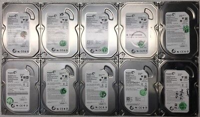 """Lot of 10 Seagate 500GB Desktop HDD 3.5"""" SATA Mixed Models *Tested and Working*"""
