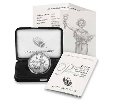 2019-Platinum Proof Coin-Liberty--2nd of The Series*PRE-SALE*PRE-SALE Item 19EJ