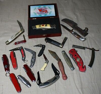Pocket Knives Mixed Lot Used Some BROKEN Assorted Styles *Read Details View Pics
