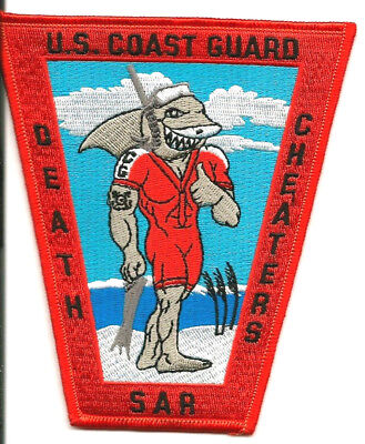 "USCG United States Coast Guard patch ""Death Cheaters, SAR"" 5-1/4 X 4-1/2 X2-3/8"