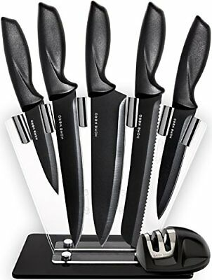 HomeHero Chef Knife Set Knives, Kitchen Knife Set with a Stand and a sharpener