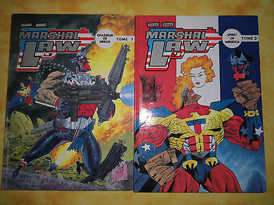 lot de 2 BD MARSHALL LAW tomes 1 et 3 en EO
