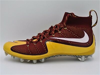 online store b4439 d4382 Mens Nike Vapor Untouchable TD Football Cleats 12 Yellow Maroon White  707455-632