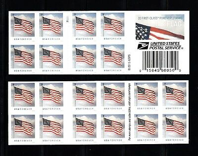 Usa Sc# 5055 Flag Forever Booklet Of 20 S.a. Stamp Pl# P1111 - Mnh