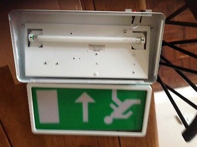 LED Emergency Fire Exit Box Sign Light Surface Fitting. X 4 units.