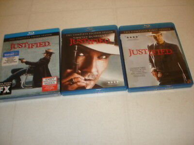 Justified Seasons 1-3, BLU-RAY,Timothy Olyphant, 1-SEALED WALMART SPECIAL FEATUR