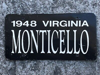 1948 Virginia MONTICELLO Metal Front License Plate or For Your Man Cave