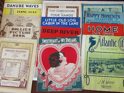 Lot Of 50 Antique Sheet Music Old