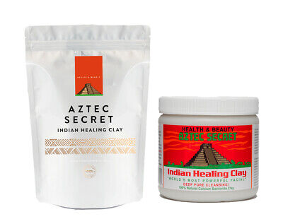 Indian Healing Aztec Wyoming Bentonite Clay - 1lb | Deep Cleansing Facial & Body