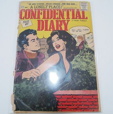 Confidential Diary Comic Book 12 Silver Age May 1962 w/ bag board -Let go of me!