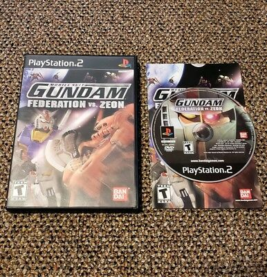 Mobile Suit Gundam: Federation vs. Zeon (Sony PS2) Complete Tested