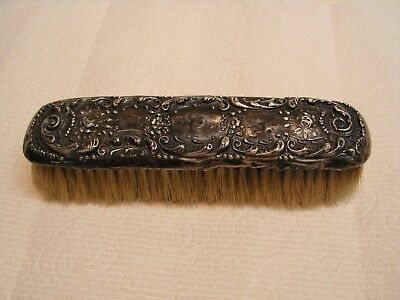 "Vintage Sterling Silver  Handle Hand Clothes Brush 6 3/4"" Very Old!!"
