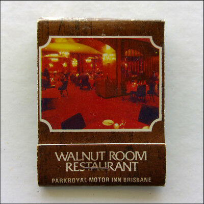 Walnut Room Restaurant Parkroyal Motor Inn Brisbane 2213411 Matchbook (MK45)