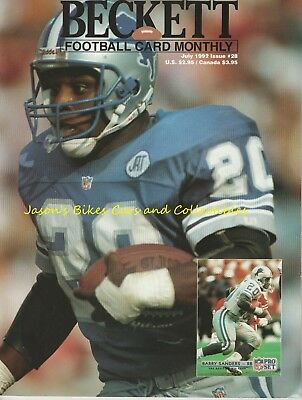 Beckett Football Monthly July 1992 Issue Barry Sanders Cover Butkus Prime Time