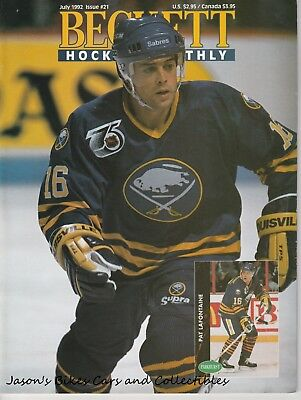 Beckett Hockey Monthly July 1992 Issue Pat LaFontaine Cover Lemieux Yzerman HOF