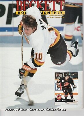 Beckett Hockey Monthly March 1992 Issue Pavel Bure Cover HOF Neely Clarke