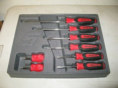 Snap-On Screwdriver Set  Snap-On Screwdrivers 8 - Piece Set  Snap On Screwdriver