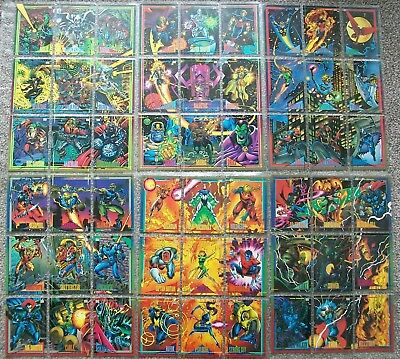 Complete set of 180 SkyBox Marvel Universe Series 4 Trading Cards from 1993