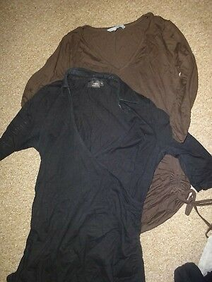 Maternity Clothes Bundle Size 10 - X2 Long Sleeve Tops