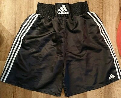 Adidas Men's Boxing Shorts Sports Black White Thick Waistband Size Large