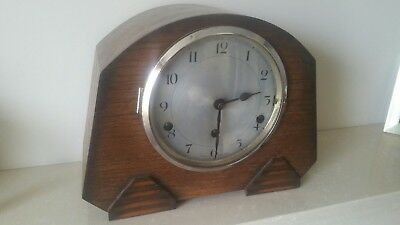 Vintage English full Westminster Chime 8 Day Clock  (SPARES OR REPAIR)