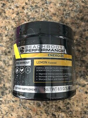 Beachbody Energize Performance line Pre-Workout Lemon Flavored *Sealed* 3/2019