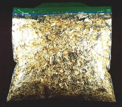 10 Troy Ounce Gold Leaf Flakes 100% Satisfaction Or Money Back Free Shipping