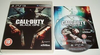 ** CALL OF DUTY 7 ** BLACK OPS 1 ** Sony Playstation 3/PS3 Game ** COD ** EXC **